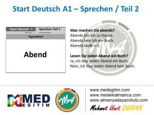 Almanca Konuşma Kartları - Tagesablauf 2