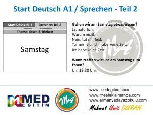 Almanca Konuşma Kartları - Essen&Trinken 4