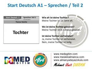Almanca Konuşma Kartları - Familie 8