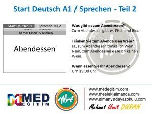 Almanca Konuşma Kartları - Essen&Trinken 5