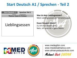 Almanca Konuşma Kartları - Essen&Trinken 7