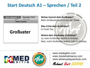 Almanca Konuşma Kartları - Familie 7