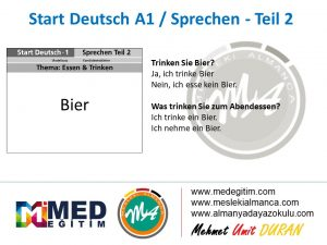 Almanca Konuşma Kartları - Essen&Trinken 9