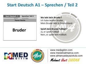 Almanca Konuşma Kartları - Familie 6