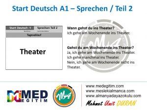 Almanca Konuşma Kartları - Tagesablauf 8