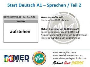 Almanca Konuşma Kartları - Tagesablauf 9