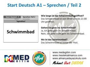 Almanca Konuşma Kartları - Tagesablauf 10