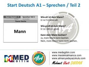 Almanca Konuşma Kartları - Familie 4