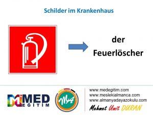 Schilder im Krankenhaus - Hastanedeki Tabelaların Almancası 5