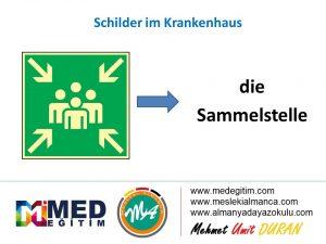 Schilder im Krankenhaus - Hastanedeki Tabelaların Almancası 10