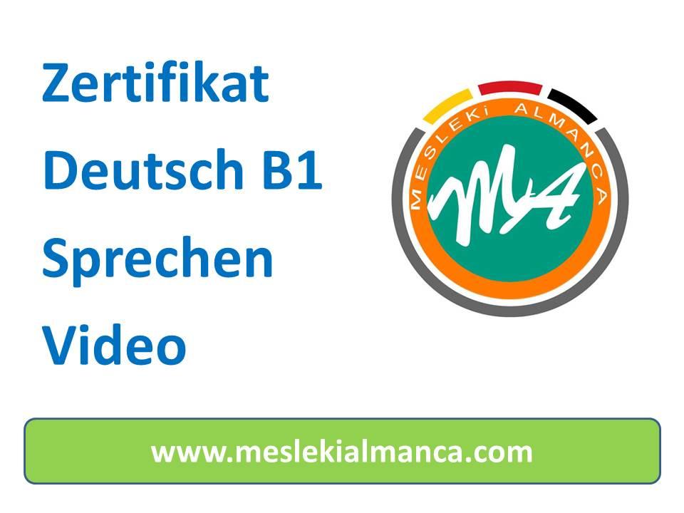 Zertifikat Deutsch B1 Konuşma Bölümü Videosu 2