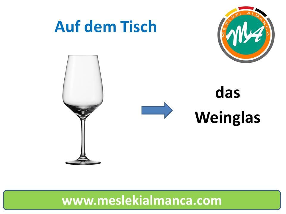 Masa'daki Eşyaların Almancası - Auf dem Tisch 1