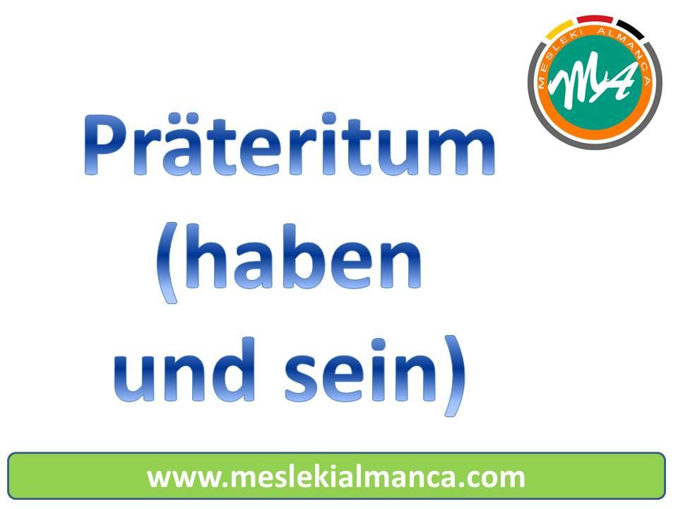 Präteritum Übungen – haben und sein | Mesleki Almanca Dersleri ...