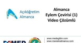 Eylem Çeviri (Türkçe - 1) - Video Çözümlü 2