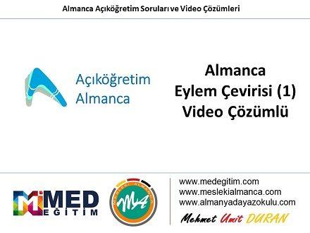 Eylem Çeviri (Türkçe - 1) - Video Çözümlü 1