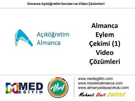 Almanca Eylem Çekimleri (1) - Video Çözümü 1