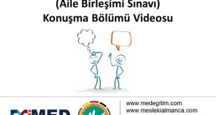 Start Deutsch 1 (Aile Birleşimi) Sınavı Konuşma Bölümü Video Anlatımı 1
