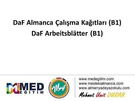 Daf Almanca Calisma Kagitlari B1 Arbeitsblatter B1 Mesleki