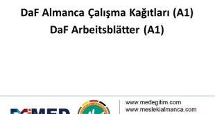 DaF Almanca Çalışma Kağıtları (A1) - DaF Arbeitsblätter (A1) 11