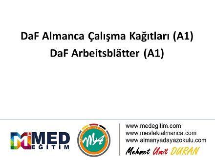 Daf Almanca Calisma Kagitlari A1 Daf Arbeitsblatter A1