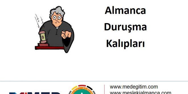 Almanca Duruşma Kalıpları - 2 1
