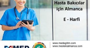 Doktorların Kullandığı Yönergelerin Almanca Karşılıkları 7
