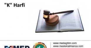 "Almanca Hukuk Sözlüğü - ""K"" Harfi 3"