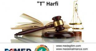 """Almanca Hukuk Sözlüğü - """"T"""" Harfi 8"""