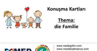 Almanca Konuşma Kartları - Familie 5
