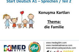 Almanca Konuşma Kartları - Familie 24