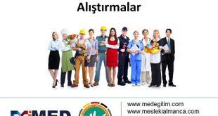 Almanca Meslekler ile ilgili Alıştırmalar (A1) 7
