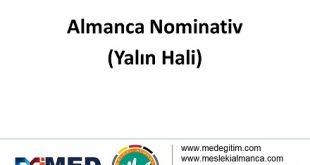 Almanca'da İsmin Halleri ve Nominativ - Nominativ 12