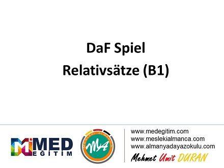 DaF Spiel über Relativsatze  (B1) 1