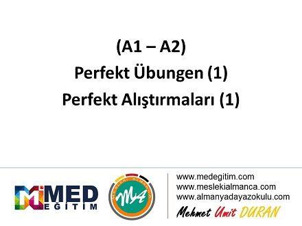 Perfekt Alıştırmaları 1 (A1-A2) / Perfekt Übungen 1 (A1-A2) 1
