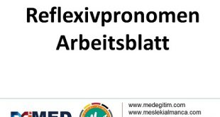 Reflexivpronomen (1) - Arbeitsblatt / Çalışma Kağıdı 5