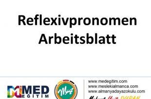 Reflexivpronomen (1) - Arbeitsblatt / Çalışma Kağıdı 1