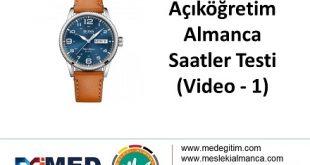 Almanca Saatler (1) - Video Çözümlü 4