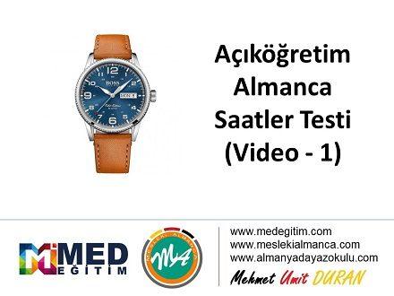 Almanca Saatler (1) - Video Çözümlü 1