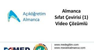 Sıfat Çevirisi (Türkçe-1) - Video Çözümlü 1