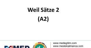 Weil Sätze Übungen 2 - Weil Cümleleri Alıştırmaları 2 9