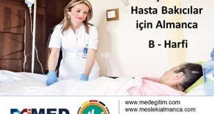 """Hemşireler İçin Almanca - """"B"""" Harfi 4"""