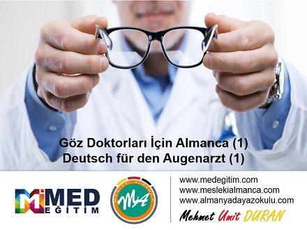 Göz Doktorları İçin Almanca 1 - Deutsch für den Augenarzt 1 1