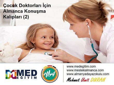 Çocuk Doktorları İçin Almanca 2 - Deutsch für den Kinderarzt 2 1