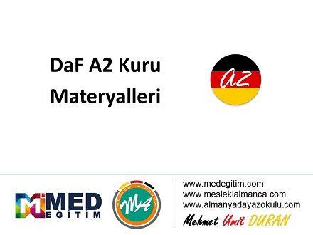 A2 Kuru İçin Almanca Materyaller 1
