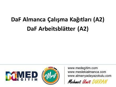 DaF Almanca Çalışma Kağıtları (A2) - DaF Arbeitsblatter (A2) 1