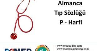 """Almanca Tıp Sözlüğü - """"P"""" Harfi 7"""