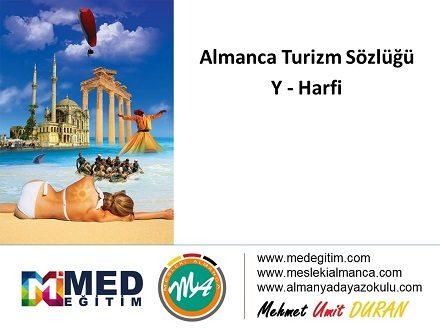 """Almanca Turizm Sözlüğü - """"Y"""" Harfi 1"""